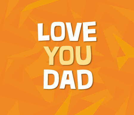 Fathers day greeting card with custom typography and geometric background. Stock fotó