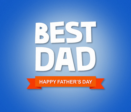 Fathers day greeting card with custom typography Stock fotó
