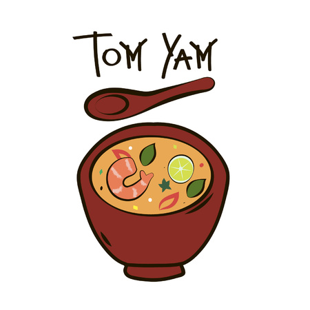 tom yam Stock Vector - 54162264