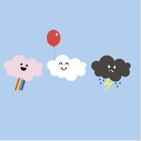 rain cartoon: clouds