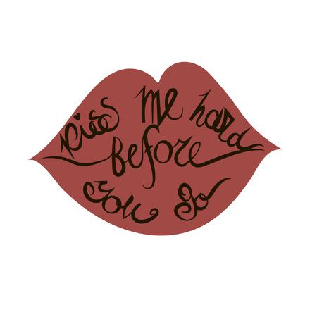 saint valentine   s day: lips Illustration
