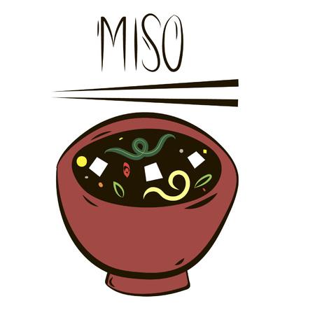 thai noodle: miso Illustration