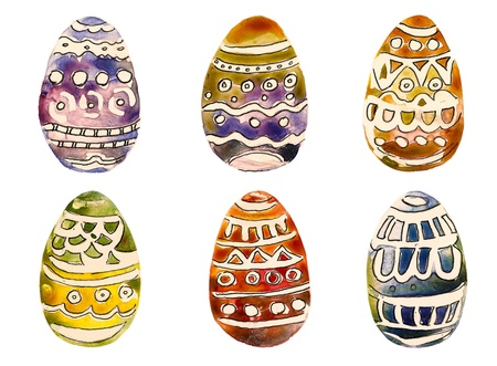Easter Eggs handmade painting