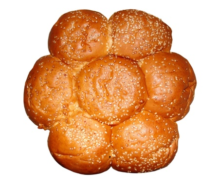 Knot-shaped Bread on a white background