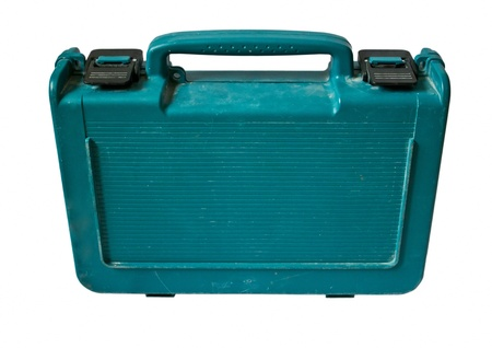 Blue toolbox isolated on white background  Stock Photo