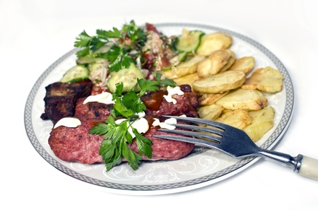 A shot of tasty dinner  Stock Photo