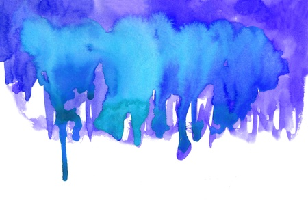 Blue watercolor effects for your design Stock Photo
