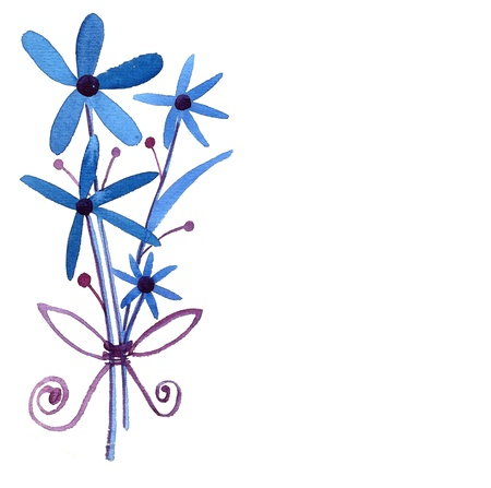 Blue Flowers isolated on white