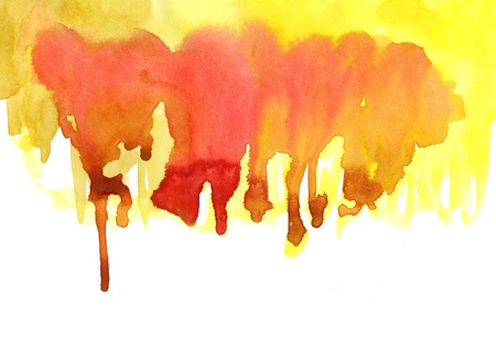 Yellow watercolor effects for your design