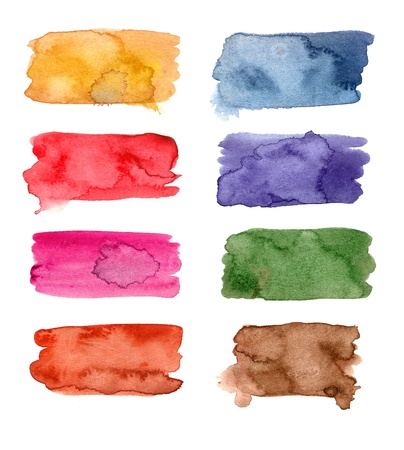 Colorful Watercolor banners for your design Stock Photo - 16038605