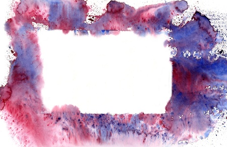 Blue watercolor  banner  with nice  effects Stock Photo - 16038602