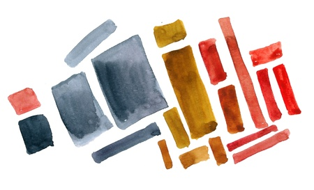 Abstract shapes  painted in watercolor