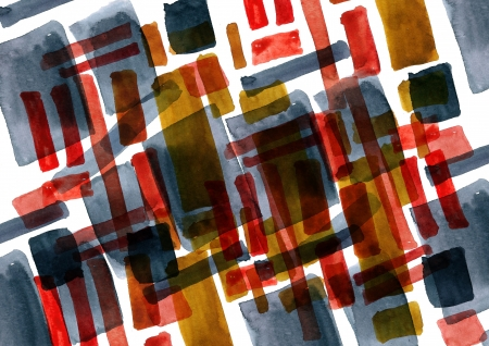 Abstract shapes  painted in watercolor for your further design project