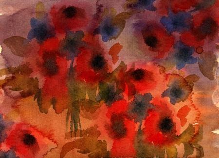 Abstract grunge flower background
