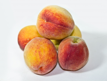 A shot of ripe sweet peaches