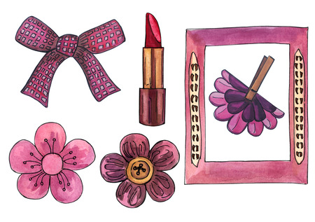 Illustration of Lady s accessories