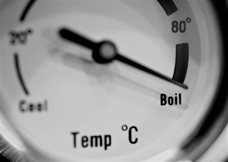 Thermometer showing boiling point water