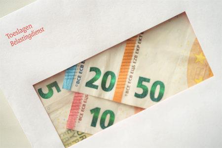 Envelope from the Dutch tax authorities (De Belastingdienst) regarding allowances (Toeslagen)