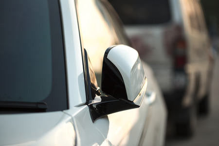 car side view: car side view mirror folded