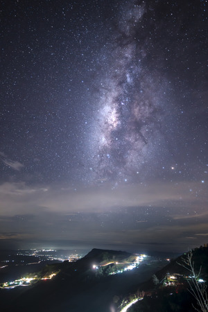 nature reserves of israel: Milky Way Galaxy over Israeli Desert at Night Stock Photo