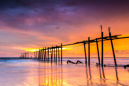 obstacle course: Wooden Bridge, Phangnga, Thailand