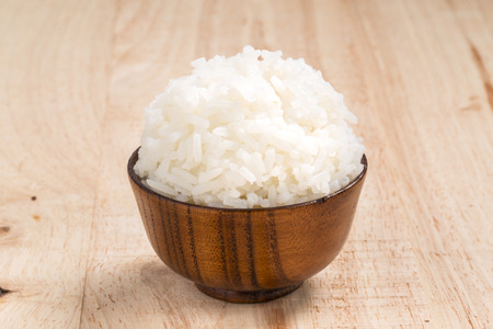 Jasmine rice is rice that most celebrated of Thailand. Stock Photo