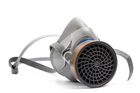 mascara gas: Máscara de protección química aislado en el fondo blanco