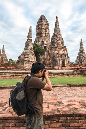 chai: Photographers are shooting Wat Chai.