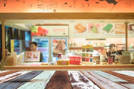 saleslady: Blue bakery Stock Photo