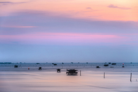 thailand view: Thailand nature landscape. background with sea house Gulf of Thailand Stock Photo