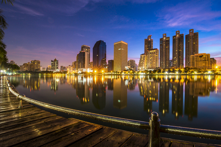 riverfront: condominium  Bangkok cityscape