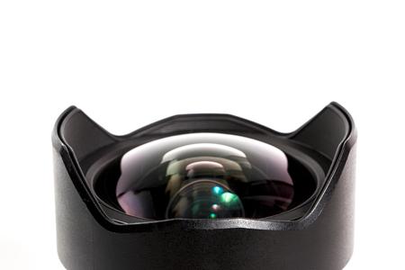 Closeup of a photographic lens