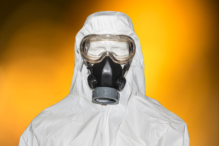 radiation protection suit: Chemical masks Stock Photo