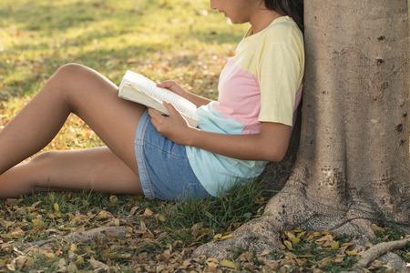 Girl Reading Park