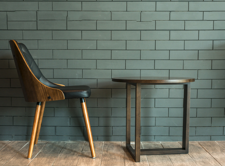 single seat: Wooden dining table