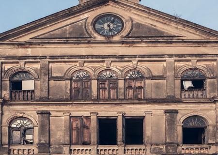 tenement buildings: Old buildings Thailand Stock Photo