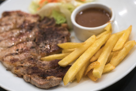 steak plate: French Fries Steak Plate