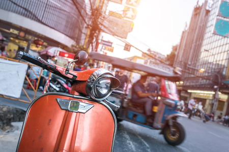 front of: Scooter front
