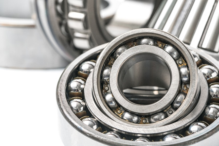 ball bearing: Ball Bearing, Industry, Conveyor Belt. Stock Photo