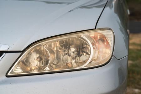headlights: Old yellow headlights off.