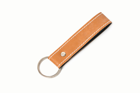 key chain: leather key chain for branding item Stock Photo