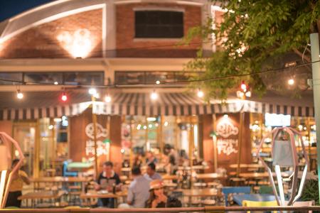 abstract liquor: restaurant blurred background