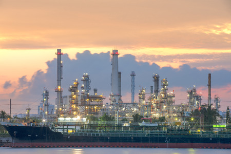 subsea: Oil tankers In front of a refinery