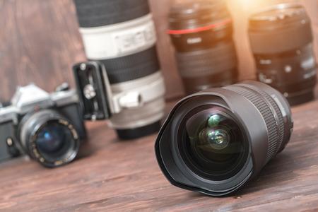レンズの反射カメラのレンズ。