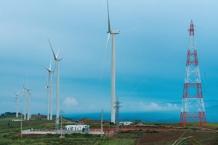 eolic: wind turbines in the Oiz eolic park
