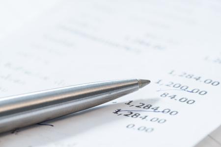 Boodschappenlijstje boodschappen - Account management concepten. Stockfoto