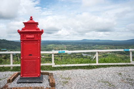 Postbox mountain backdrop