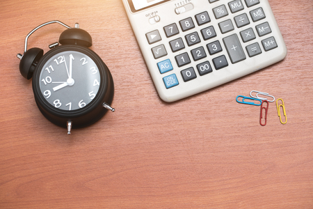 working hours: Working hours concept Stock Photo