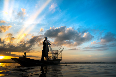 fisherman  Thailand Stock Photo