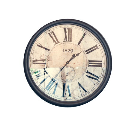 Grunge old vintage clock face